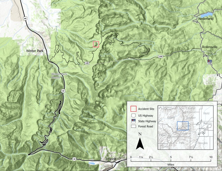 <b>Figure 1:</b> A map of the Rollins Pass area. The accident site is marked by the red box. (<a href=javascript:void(0); onClick=win=window.open('https://caic-production.imgix.net/0x38wx45fjyql5u7l22p2enr4ewq?ixlib=php-3.1.0&s=3dce33b7cc45918cb57292a9ab1486de','caic_media','resizable=1,height=820,width=840,scrollbars=yes');win.focus();return false;>see full sized image</a>)
