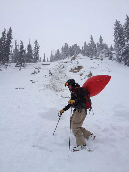 <b>Figure 1:</b> This is about the area where he stopped.  As you can see, he was on a rock face.  He continued skiing to the lookers right,which brought centered on the rock face.  This eventually triggered the avalanche. (<a href=javascript:void(0); onClick=win=window.open('https://caic-production.imgix.net/3pv7rdrsq8mbazvh4p5lhwzw31yz?ixlib=php-3.1.0&s=75dab77c4bae3f0b6490cded98771071','caic_media','resizable=1,height=820,width=840,scrollbars=yes');win.focus();return false;>see full sized image</a>)
