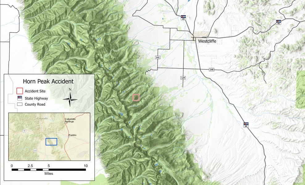 <b>Figure 1:</b> The accident site is located on the east side of Horn Peak in the Sangre de Cristo Range, in the southern mountains of Colorado. (<a href=javascript:void(0); onClick=win=window.open('https://caic-production.imgix.net/68a99ahzum2qohz8otjygxwfdk3u?ixlib=php-3.1.0&s=4e516a003068a44fa95b8792252cab50','caic_media','resizable=1,height=820,width=840,scrollbars=yes');win.focus();return false;>see full sized image</a>)