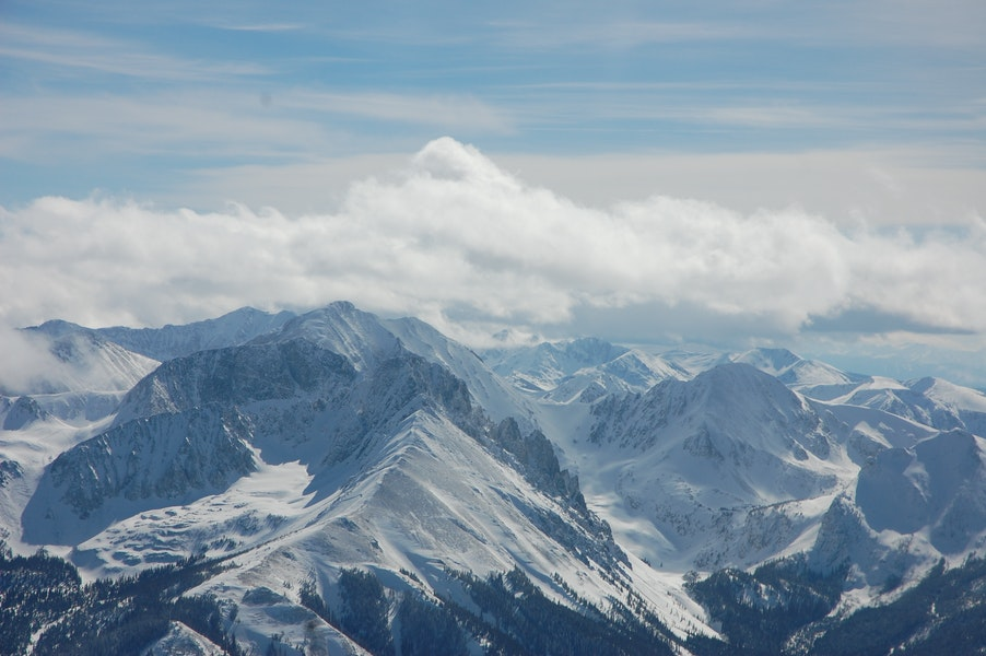 <b>Figure 11:</b> An areal image of the Nokhu Crags on the day of the accident. The crown of the avalanche is visible on the viewer's left side of the ridge that extends into the foreground. The image was taken at approximately 1PM. (<a href=javascript:void(0); onClick=win=window.open('https://caic-production.imgix.net/7xa5iarfhhwznrbyl9fjfenk3dux?ixlib=php-3.1.0&s=aae22d37dfe86000cca26097b9057203','caic_media','resizable=1,height=820,width=840,scrollbars=yes');win.focus();return false;>see full sized image</a>)