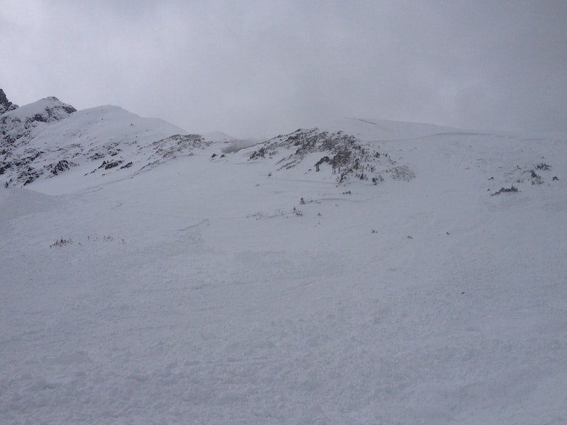 <b>Figure 3:</b> Looking up the drainage at the avalanche. (<a href=javascript:void(0); onClick=win=window.open('https://caic-production.imgix.net/bu9v4n9itfdogukifuk0dwcsv9o8?ixlib=php-3.1.0&s=9624e45a4f6f4879d6e565a98eedec64','caic_media','resizable=1,height=820,width=840,scrollbars=yes');win.focus();return false;>see full sized image</a>)