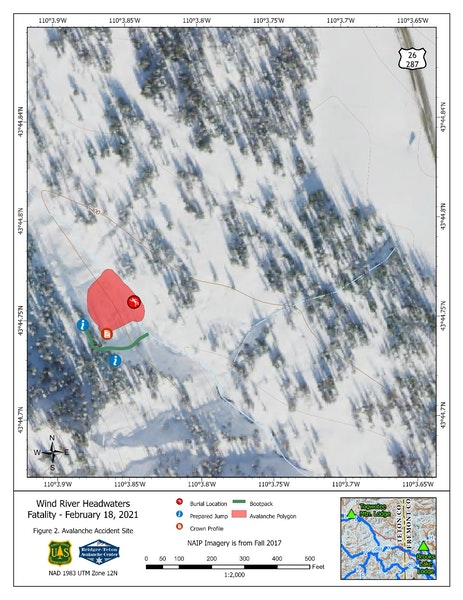 <b>Figure 2:</b> Avalanche Accident Site Map – Detailed layout of the avalanche accident site. (<a href=javascript:void(0); onClick=win=window.open('https://caic-production.imgix.net/djbilz4nlls8l7gw4hfuobcfkyn0?ixlib=php-3.1.0&s=ac88d45d7c606785dc8aa63c80484bb1','caic_media','resizable=1,height=820,width=840,scrollbars=yes');win.focus();return false;>see full sized image</a>)