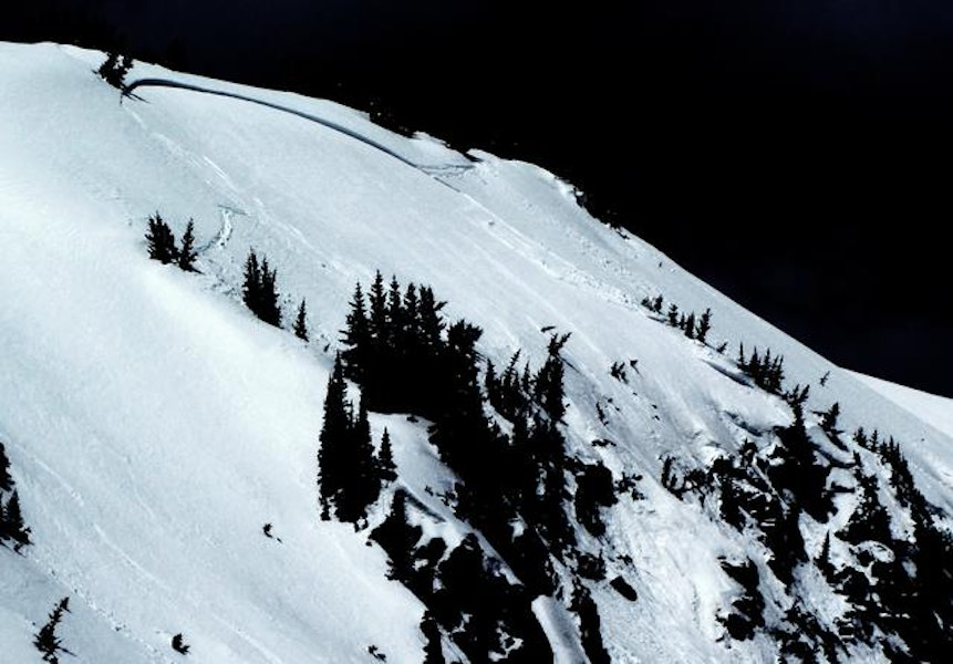 <b>Figure 2:</b> West Side Cliffs.  East aspect.  It appeared skier triggered - there were tracks in and out in the starting zone (fortunately - it would have been a nasty ride).  Happened between 10:00 am and 1 pm.  150' wide crown, maybe 2' deep.  Slid probably 300' vertical, starting at 11,700'.  R3-D2. (<a href=javascript:void(0); onClick=win=window.open('https://caic-production.imgix.net/dw4xd8aijvojrl0ki49iq9pdk31i?ixlib=php-3.1.0&s=46d7f250a9cd394c98558f7d36ab222b','caic_media','resizable=1,height=820,width=840,scrollbars=yes');win.focus();return false;>see full sized image</a>)