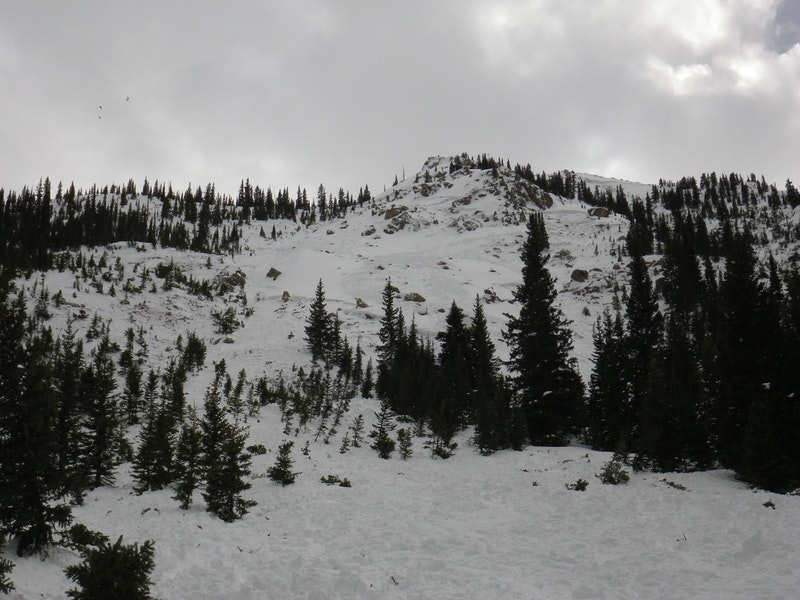 <b>Figure 9:</b> An overview of the start zone in the eastern portion of the Star Mountain A avalanche path. You can see the top of the western portion of the path in the upper right part of the image. (<a href=javascript:void(0); onClick=win=window.open('https://caic-production.imgix.net/gjbq2z07ls2t7oix7e0heigkvyyo?ixlib=php-3.1.0&s=fff6c2930365ad74b7a541b8d3ef7d09','caic_media','resizable=1,height=820,width=840,scrollbars=yes');win.focus();return false;>see full sized image</a>)
