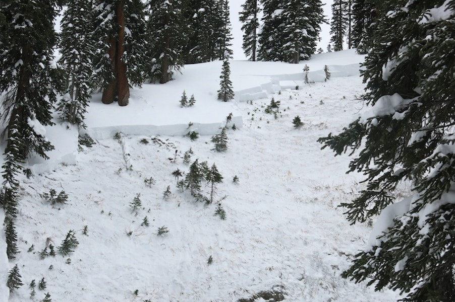 <b>Figure 2:</b> Looking up at the crown of a snowmbile triggered avalanche on Mt Baldy near Crested Butte. 12/12/26 (<a href=javascript:void(0); onClick=win=window.open('https://caic-production.imgix.net/hoixzjmhakoq29gewtbxos7th0se?ixlib=php-3.1.0&s=41906b9b06b3db6997753bfa51a42236','caic_media','resizable=1,height=820,width=840,scrollbars=yes');win.focus();return false;>see full sized image</a>)