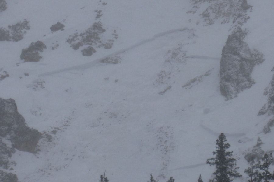 <b>Figure 2:</b> Wet slab avalanche that occurred in the last few days on a steep rocky westerly slope. (<a href=javascript:void(0); onClick=win=window.open('https://caic-production.imgix.net/hy2hsey56h6n1fbtwbha1r0dnbwg?ixlib=php-3.1.0&s=e5e231c37673665b3d172f59e9faee18','caic_media','resizable=1,height=820,width=840,scrollbars=yes');win.focus();return false;>see full sized image</a>)