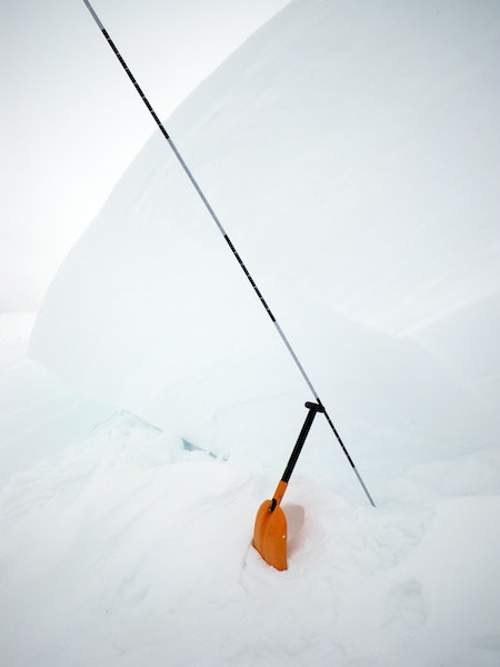 <b>Figure 4:</b> This photo was taken 10 days after the avalanche and shows one of the large chunks of hardslab left in the starting zone. The thickest of the chunks was 210 cm measured normal to slope. (<a href=javascript:void(0); onClick=win=window.open('https://caic-production.imgix.net/jazjuhvuxcxjhslsor1ehtsvj9qn?ixlib=php-3.1.0&s=f1051d2fe05eb5d2ba599cfcf559d6f2','caic_media','resizable=1,height=820,width=840,scrollbars=yes');win.focus();return false;>see full sized image</a>)