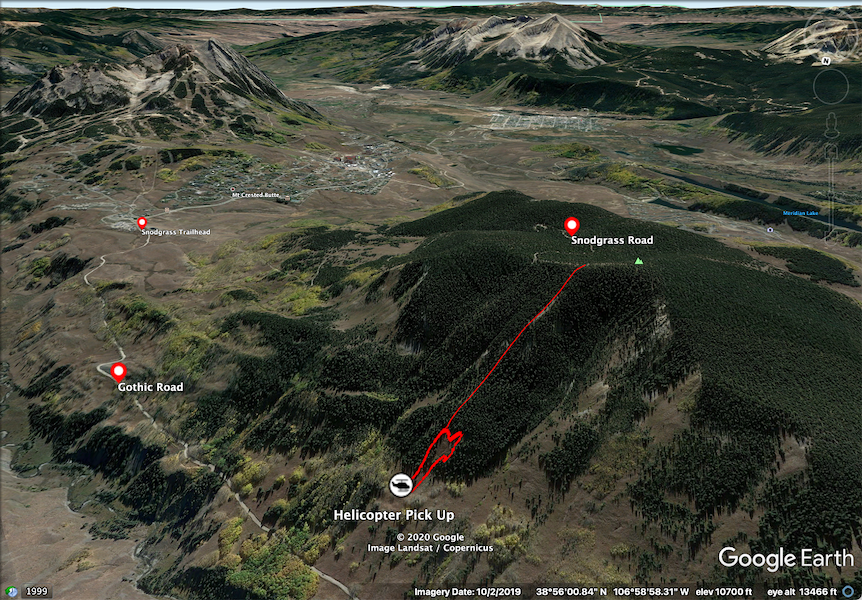 <b>Figure 3:</b> A Google Earth image showing the pair's descent route and the approximate extent of the avalanche. (<a href=javascript:void(0); onClick=win=window.open('https://caic-production.imgix.net/k4ndmv4967hkjin3sbtauuea54ig?ixlib=php-3.1.0&s=02ffb67f82832f11b8d5cd1ba782e6da','caic_media','resizable=1,height=820,width=840,scrollbars=yes');win.focus();return false;>see full sized image</a>)