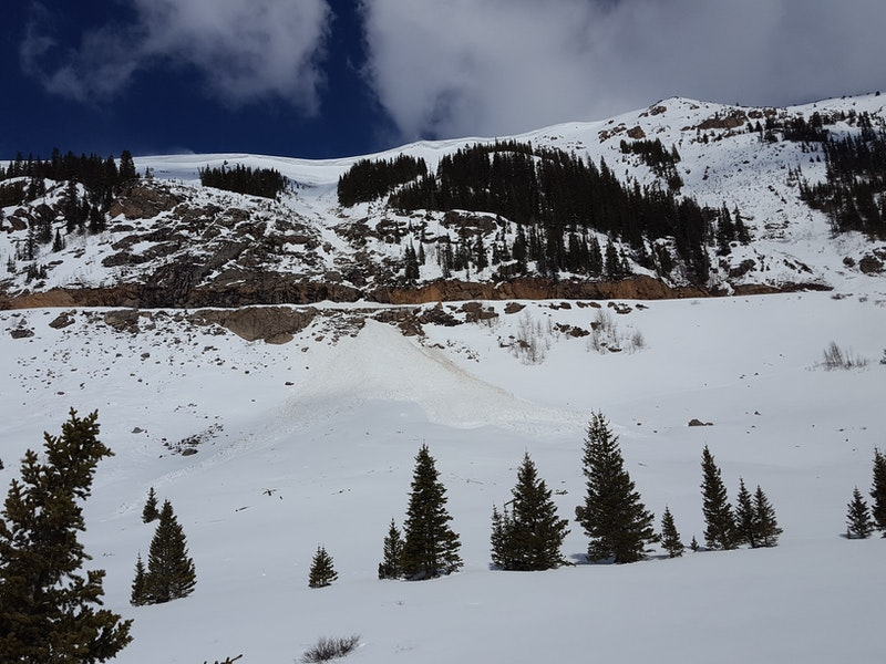 <b>Figure 1:</b> Loose Wet avalanche from the Beeler Grade from around 4/30/19 (<a href=javascript:void(0); onClick=win=window.open('https://caic-production.imgix.net/ka4erw8fjo6csvacmjoj9vu0drlf?ixlib=php-3.1.0&s=d3b20eaba60d36411dca757dba342383','caic_media','resizable=1,height=820,width=840,scrollbars=yes');win.focus();return false;>see full sized image</a>)