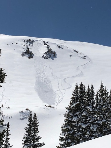 <b>Figure 2:</b> North Chutes in Current Creek - soft slab, east aspect, skier triggered, elevation of 12,200' (ran for approximately 200' vertical), R2-D1.5. (<a href=javascript:void(0); onClick=win=window.open('https://caic-production.imgix.net/oimtfiw6vxn6dz5gv7jcw2saaws7?ixlib=php-3.1.0&s=86d0a1fe04616209ca59d50883c3ecc5','caic_media','resizable=1,height=820,width=840,scrollbars=yes');win.focus();return false;>see full sized image</a>)