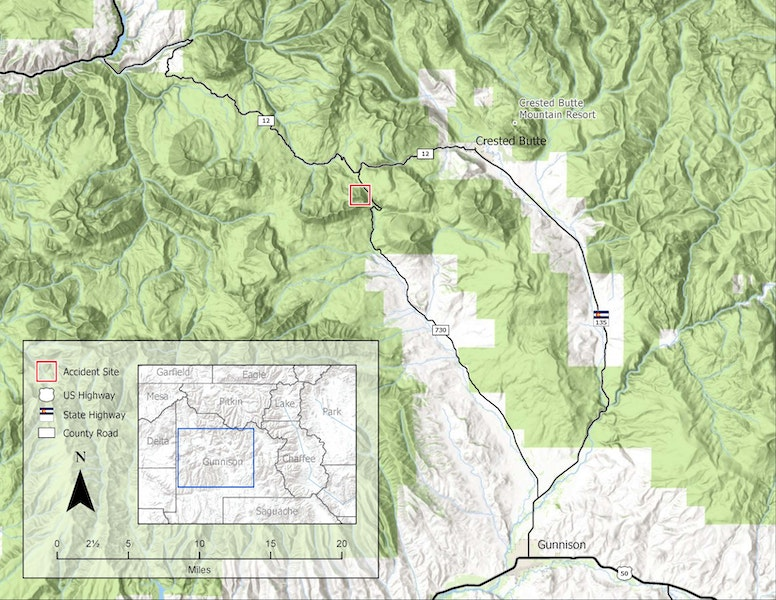 <b>Figure 1:</b> A topographic map showing the approximate location of the avalanche accident. (<a href=javascript:void(0); onClick=win=window.open('https://caic-production.imgix.net/ptm4wtmg0za7ipxznagrj4dri3do?ixlib=php-3.1.0&s=6a60b1fd36b73ec8c587d044698edb63','caic_media','resizable=1,height=820,width=840,scrollbars=yes');win.focus();return false;>see full sized image</a>)