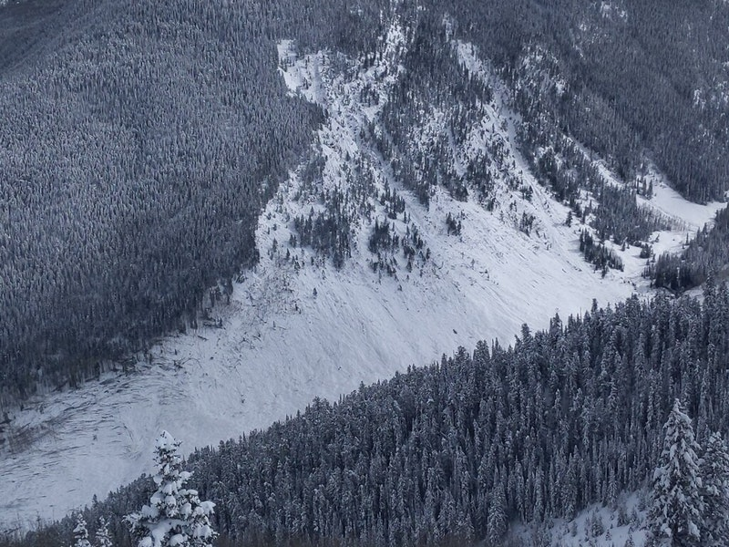 <b>Figure 5:</b> Historic-sized avalanche off Highlands Ridge. The avalanche ran across Conundrum Creek up the other side, taking out more trees. March 9, 2019 (<a href=javascript:void(0); onClick=win=window.open('https://caic-production.imgix.net/t56gorm2toz8mtvufaefgfov1hwh?ixlib=php-3.1.0&s=312c49c4f97d462f957dc4513145f30b','caic_media','resizable=1,height=820,width=840,scrollbars=yes');win.focus();return false;>see full sized image</a>)