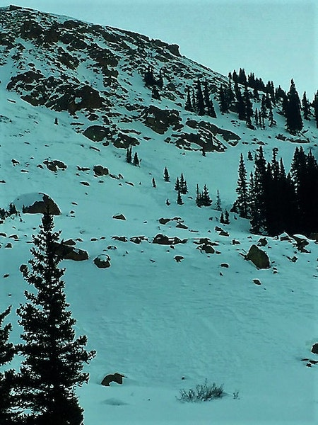 <b>Figure 1:</b> Wind Slab avalanche triggered on a northwest aspect below Taylor Pass. Dec 21, 2018 (<a href=javascript:void(0); onClick=win=window.open('https://caic-production.imgix.net/w99cprqcquhjqoajonslq018mzli?ixlib=php-3.1.0&s=f11c41823d0a67ecfe4b80f6d2dc7cd4','caic_media','resizable=1,height=820,width=840,scrollbars=yes');win.focus();return false;>see full sized image</a>)