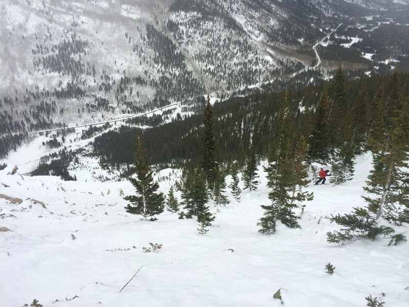 <b>Figure 8:</b> Looking down a portion of the avalanche path towards State Highway 82. (<a href=javascript:void(0); onClick=win=window.open('https://caic-production.imgix.net/zu9nw1tpkrrbhvhfmy7md3nyprs5?ixlib=php-3.1.0&s=09bc28b8933742b4fedcdf77a01f7c15','caic_media','resizable=1,height=820,width=840,scrollbars=yes');win.focus();return false;>see full sized image</a>)